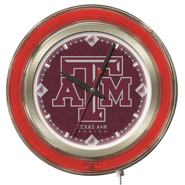"Holland Bar Stool Clk15TexA-M Texas A&M 15"" Neon Clock"