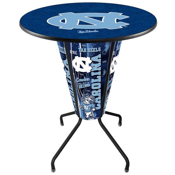 "Holland Bar Stool L218B42NorCar36RNorCar University of North Carolina 36"" Round Bar Height LED Pub Table Main Image 1"
