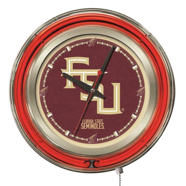 "Holland Bar Stool Clk15FSU-FS Florida State University 15"" Neon Clock"