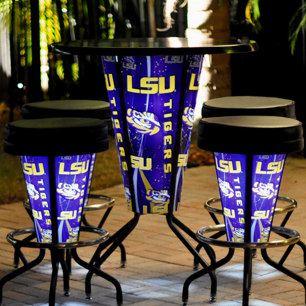 Surprising Holland Bar Stool L218B42Lastun36Rlastun D2 Louisiana State University 36 Round Bar Height Led Pub Table Caraccident5 Cool Chair Designs And Ideas Caraccident5Info