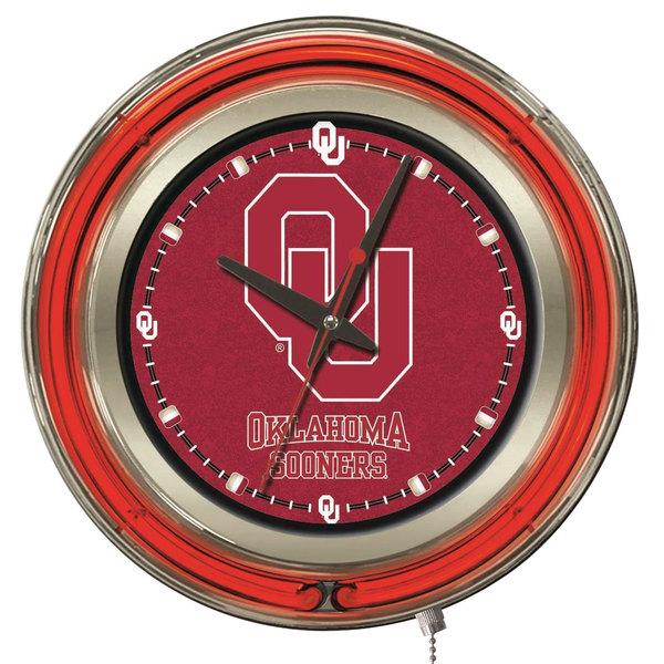 "Holland Bar Stool Clk15Oklhma University of Oklahoma 15"" Neon Clock"