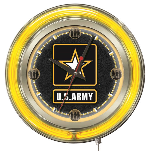 "Holland Bar Stool Clk15Army United States Army 15"" Neon Clock"