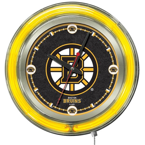 "Holland Bar Stool Clk15BosBru Boston Bruins 15"" Neon Clock"