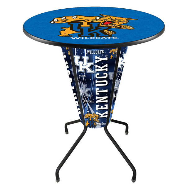 "Holland Bar Stool L218B42Kentky36RUKYCat University of Kentucky 36"" Round Bar Height LED Pub Table"