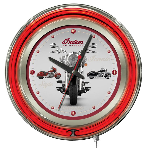 "Holland Bar Stool Clk15Indn-Multi Indian Motorcycle 15"" Neon Clock"
