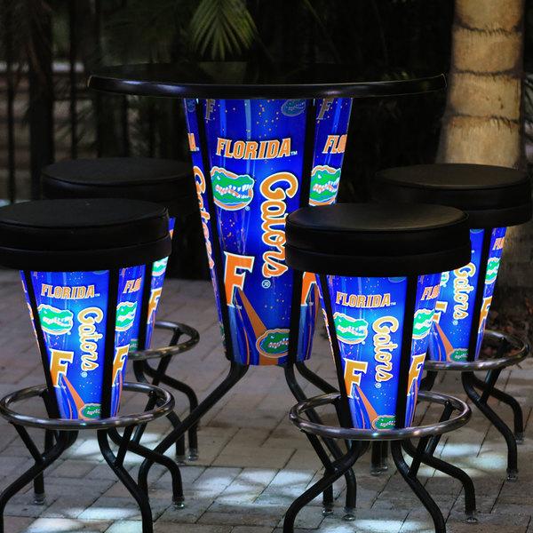 "Holland Bar Stool L218B42FlorUn36RFlorUn University of Florida 36"" Round Bar Height LED Pub Table"