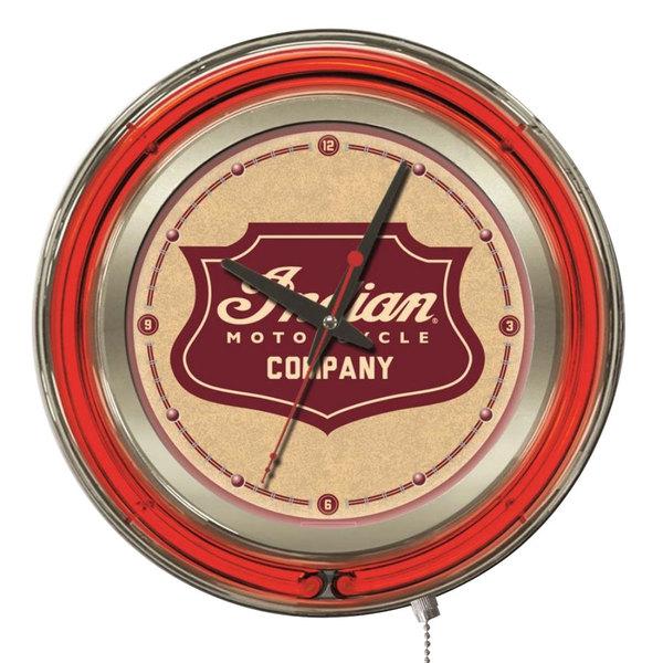 "Holland Bar Stool Clk15Indn-Sh Indian Motorcycle 15"" Neon Clock"