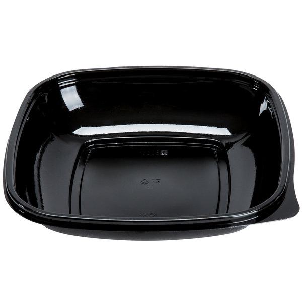 Sabert 98024B300 Bowl2 24 oz. Black Square Catering Bowl - 300/Case