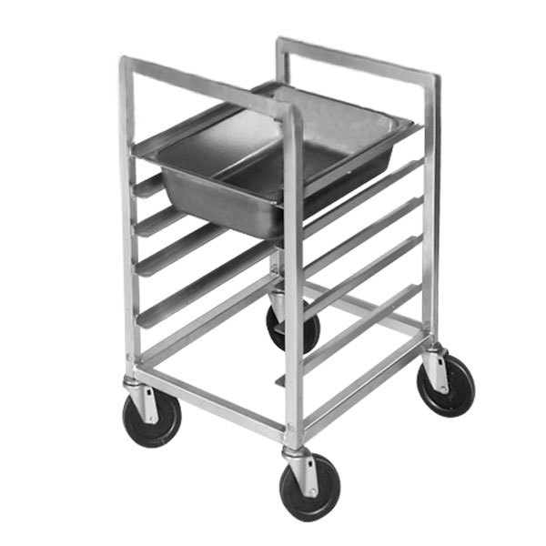 Channel ETPR-5E3 5 Pan End Load Aluminum Steam Table Pan Rack - Assembled