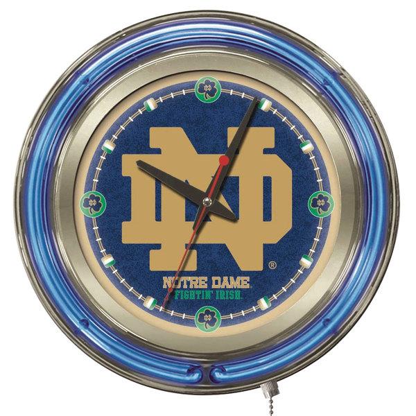 "Holland Bar Stool Clk15ND-ND University of Notre Dame 15"" Neon Clock"