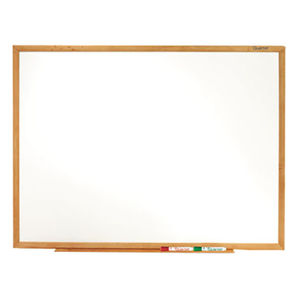"Quartet S577 Classic 72"" x 48"" Melamine Whiteboard with Oak Finish Frame"