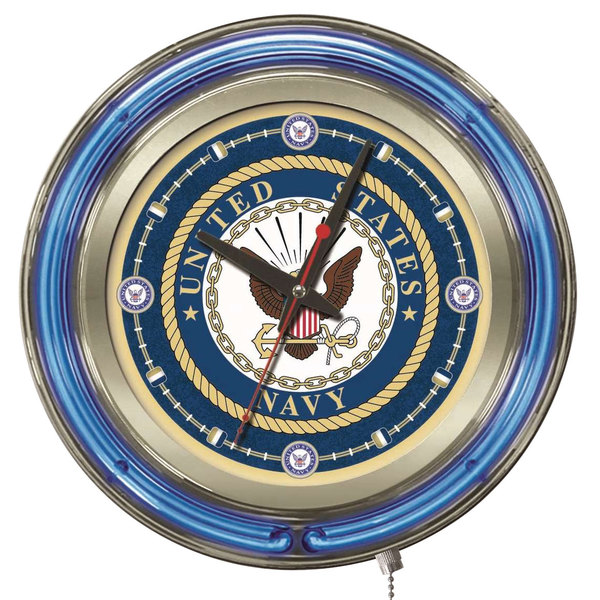 Bar Stool Clk15Navy United States Navy 15 Neon Clock