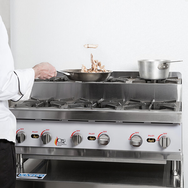 """Cooking Performance Group CK-HPSU636 36"""" Step-Up Countertop Range / Hot Plate with 6 High Output Burners - 180,000 BTU Main Image 3"""