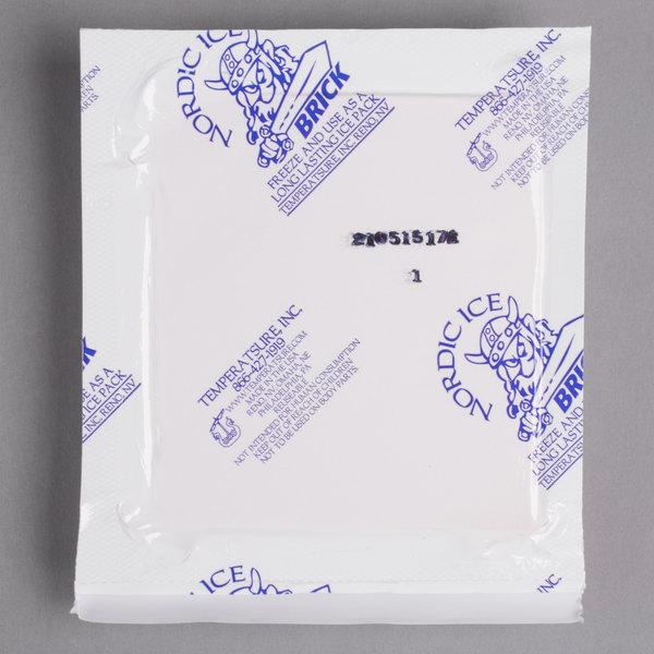 """Nordic NB7 7.5 oz. 4 1/2"""" x 4"""" x 3/4"""" Foam Brick Cold Pack - 48/Case"""