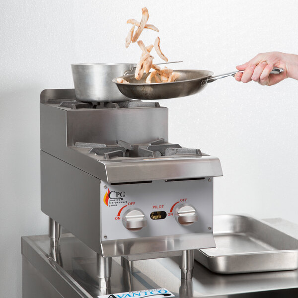 """Cooking Performance Group CK-HPSU212 12"""" Step-Up Countertop Range / Hot Plate with 2 High Output Burners - 60,000 BTU Main Image 4"""
