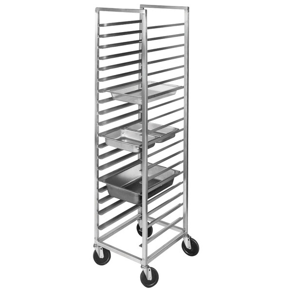 Channel SSPR-3S 38 Pan End Load Stainless Steel Steam Table Pan Rack - Assembled