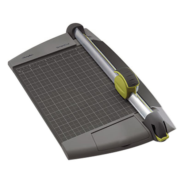 "Swingline SWI8912 SmartCut 11 1/2"" x 20 1/2"" 15 Sheet EasyBlade Plus Rotary Paper Trimmer with Metal Base"