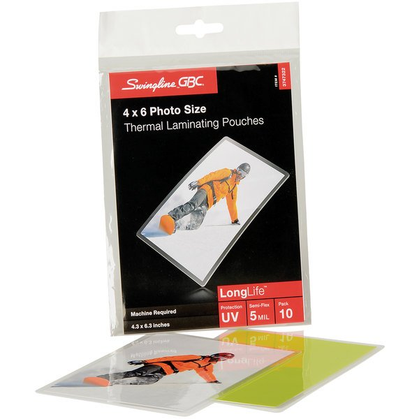 """Swingline GBC 3747322 LongLife 4 1/4"""" x 6 3/8"""" ID Badge Thermal Laminating Pouch - 10/Pack"""