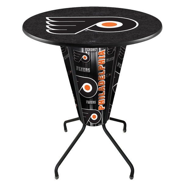 "Holland Bar Stool L218B42PhiFly36RPhiFly-B Philadelphia Flyers 36"" Round Bar Height LED Pub Table"