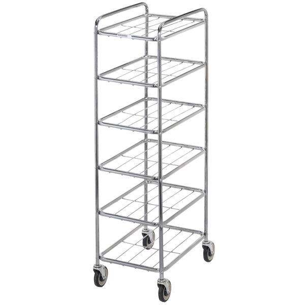 "Channel UC906 Chrome Plated Six Shelf Mobile Rack 65"" x 18"" x 26"""