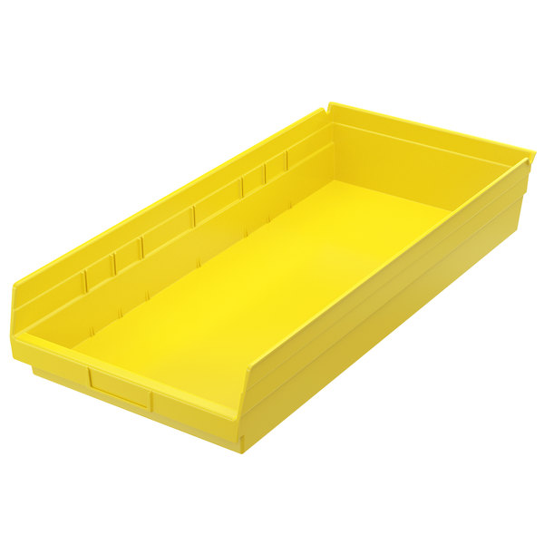 "Metro MB30174Y Yellow Nesting Shelf Bin 23 5/8"" x 11 1/8"" x 4"""