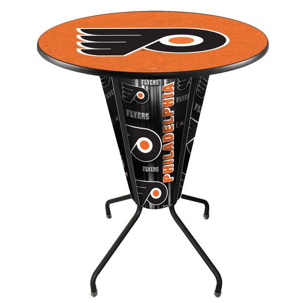 "Holland Bar Stool L218B42PhiFly36RPhiFly-O Philadelphia Flyers 36"" Round Bar Height LED Pub Table"