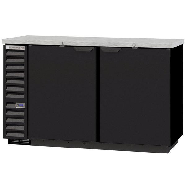 "Beverage-Air BB58HC-1-B 59"" Back Bar Refrigerator with 2 Solid Doors 115V"