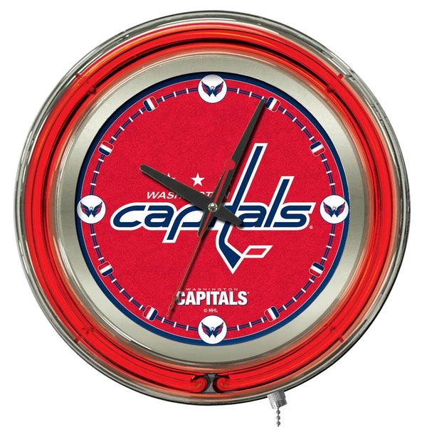"Holland Bar Stool Clk15WshCap Washington Capitals 15"" Neon Clock"