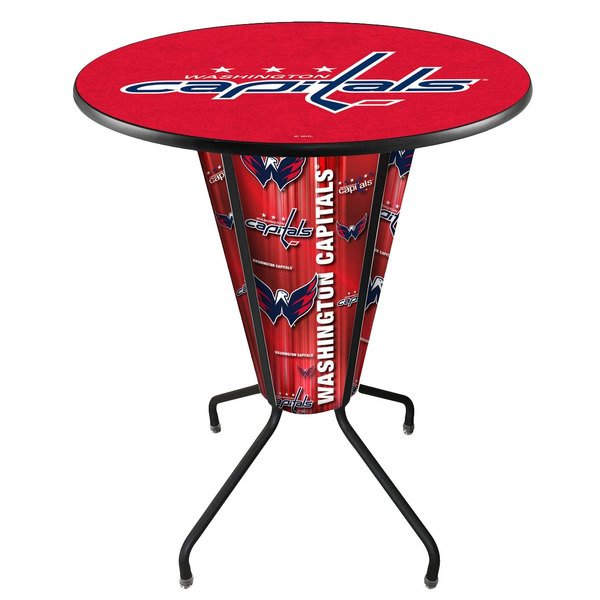 "Holland Bar Stool L218B42WshCap36RWshCap Washington Capitals 36"" Round Bar Height LED Pub Table"