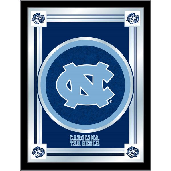 "Holland Bar Stool MLogoNorCar 17"" x 22"" University of North Carolina Decorative Logo Mirror"