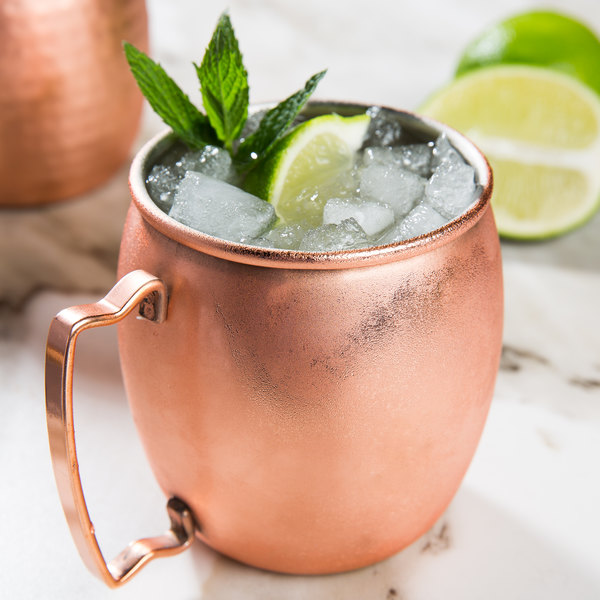 Acopa 16 oz. Moscow Mule Cup with Smooth Copper Finish - 12/Pack