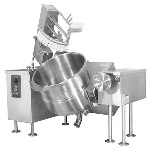 Cleveland MKGL-40-T Natural Gas 40 Gallon Tilting 2/3 Steam Jacketed Mixer Kettle - 140,000 BTU Main Image 1