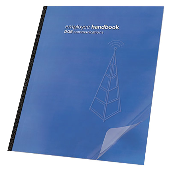 """Swingline GBC 2001036 11 1/4"""" x 8 3/4"""" Clear View Presentation Binding System Cover - 25/Pack"""
