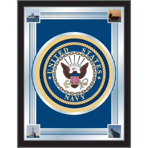 "Holland Bar Stool MLogoNavy 17"" x 22"" United States Navy Decorative Logo Mirror"