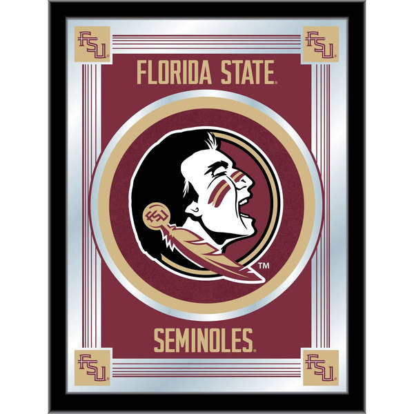 "Holland Bar Stool MLogoFSU-HD 17"" x 22"" Florida State University Decorative Logo Mirror Main Image 1"