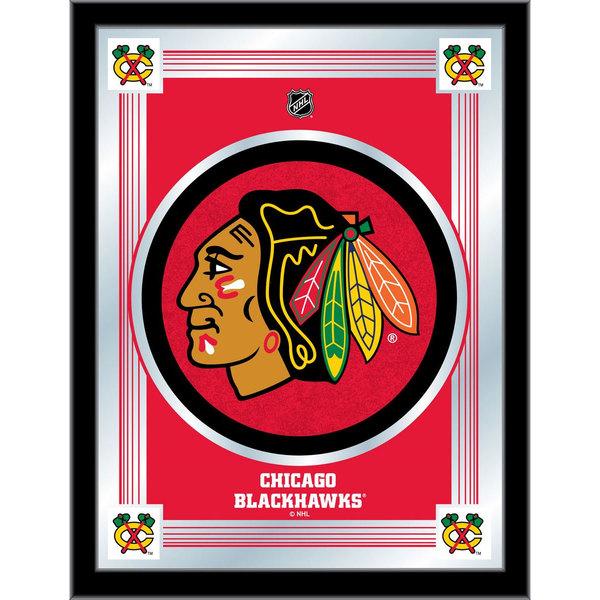 "Holland Bar Stool MLogoChiHwk 17"" x 22"" Chicago Blackhawks Decorative Logo Mirror"