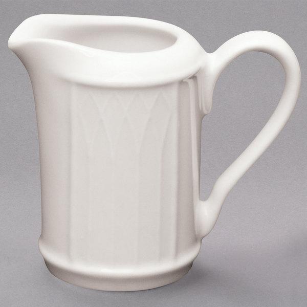 Homer Laughlin by Steelite International HL0427000 Gothic 7.75 oz. Ivory (American White) China Creamer - 36/Case Main Image 1