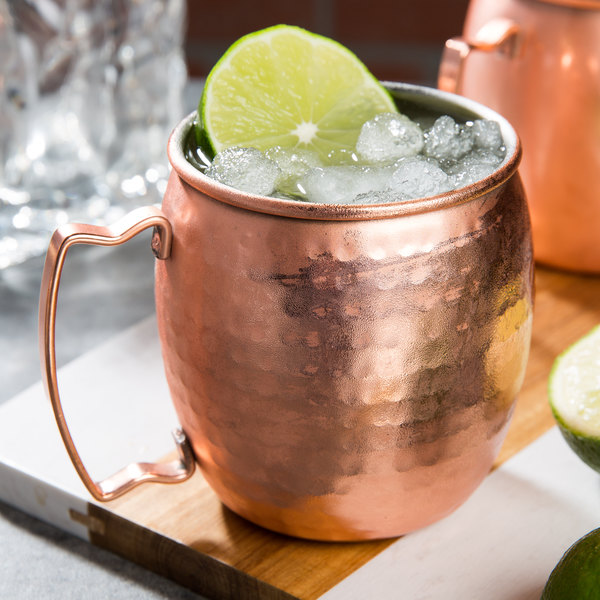 Acopa Alchemy 16 oz. Hammered Copper Moscow Mule Mug - 12/Pack Main Image 3
