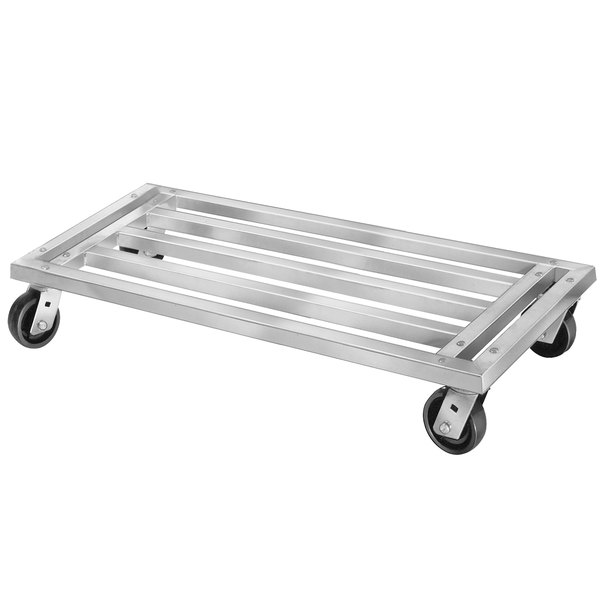 """Channel MD2060 60"""" x 20"""" Mobile Aluminum Dunnage Rack - 1200 lb."""