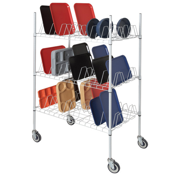 "Channel W3TD-3 Mobile Tray Drying Rack - 25 1/2"" x 44"" x 70 1/2"""