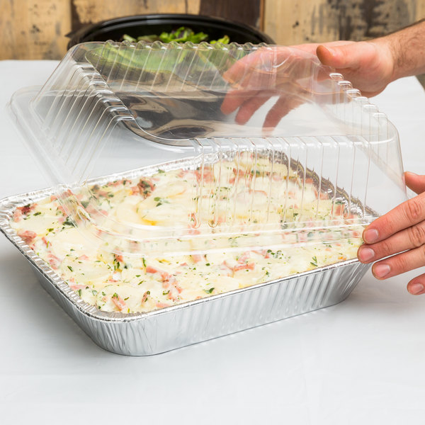 """Durable Packaging P4200-100 Half Size Dome Lid for Steam Table Pan 2 1/2"""" High - 20/Pack"""