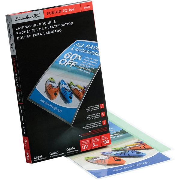 "Swingline GBC 3740473CF EZUse 14 1/2"" x 9"" Legal Thermal Laminating Pouch - 100/Box"