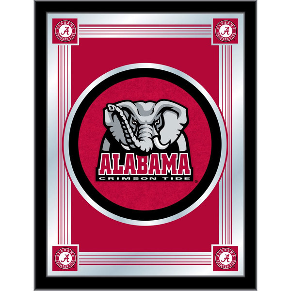 "Holland Bar Stool MLogoAL-Ele 17"" x 22"" University of Alabama Decorative Logo Mirror"