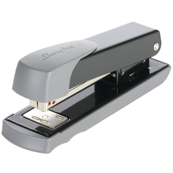 Swingline 71101 20 Sheet Black Half Strip Compact Commercial Stapler Main Image 1