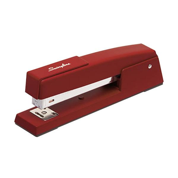Swingline 74718 747 Classic 20 Sheet Lipstick Red Full Strip Stapler Main Image 1