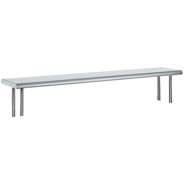 """Advance Tabco OTS-15-84 15"""" x 84"""" Table Mounted Single Deck Stainless Steel Shelving Unit"""