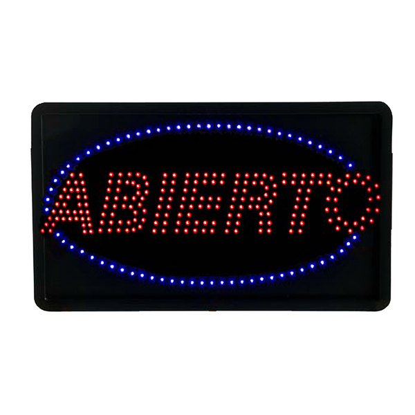 Aarco ABI08L Large Abierto Open LED Sign