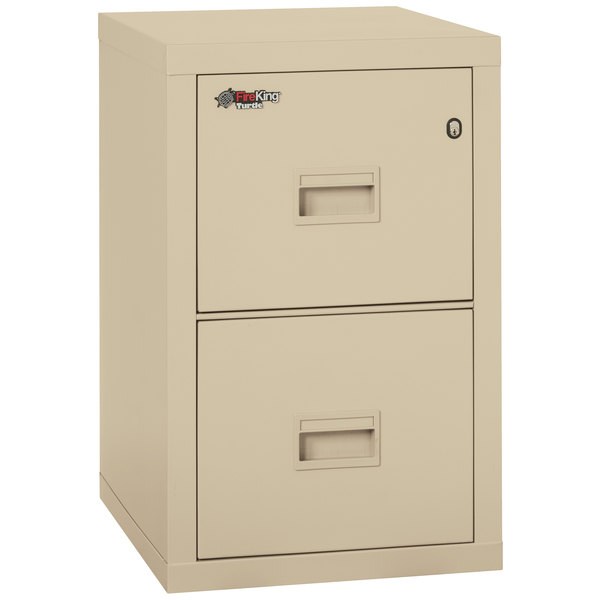 """FireKing 2R1822CPA Turtle 17 3/4"""" x 22 1/8"""" x 27 3/4"""" Parchment Two-Drawer Fire File Cabinet Main Image 1"""