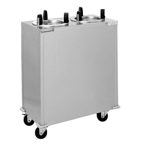 "Delfield CAB2-650 Mobile Enclosed Two Stack Dish Dispenser for 5 3/4"" to 6 1/2"" Dishes"