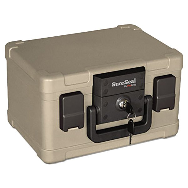 FireKing SS102 SureSeal 1/2 Hour Lockable Fire and Water Chest - 0.15 Cu. Ft. Main Image 1